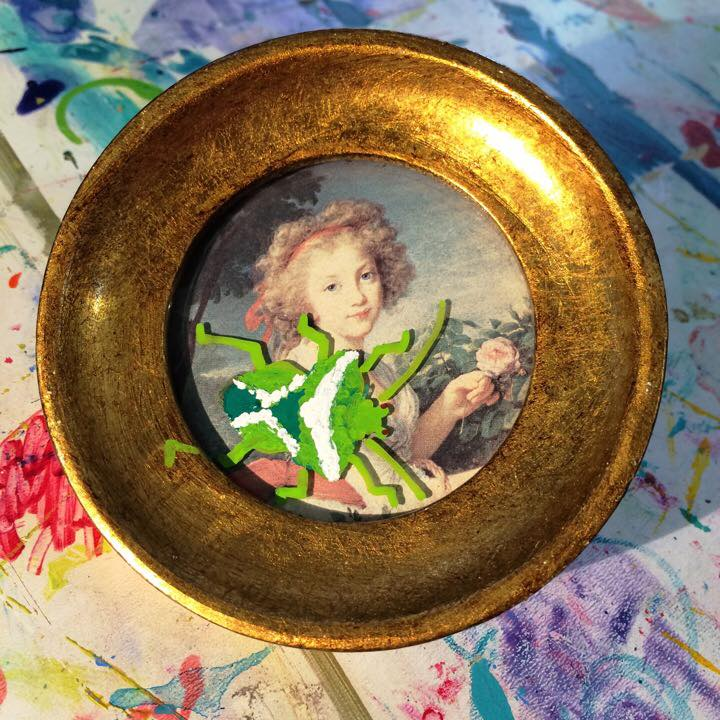 Käfer - Käferkunst - Wanze im Goldrahmen